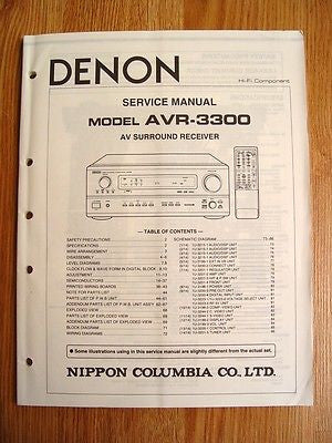 denon avr 3300 owners manual