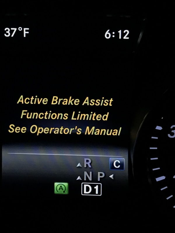 active brake assist function limited see owners manual