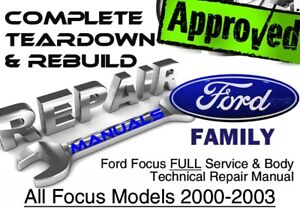 2003 ford focus service manual