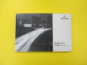 2002 acura rsx owners manual